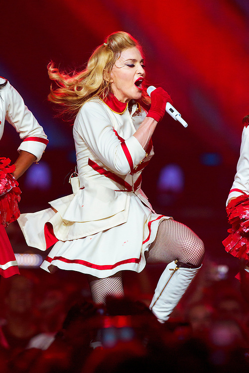 Madonna kicks off her North American tour with a concert at the Wells Fargo Center, in Philadelphia, Tuesday August 28th 2012. ( ED HILLE /The Philadelphia Inquirer)