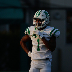 During a high school football jamboree with Isidore Newman at Lupin Field, in New Orleans, La on August 24, 2018. Jarmone Sutherland