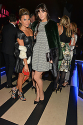 Left to right, ZOE HARDMAN and LILAH PARSONS at a party to celebrate the 1st anniversary of Hello! Fashion Monthly magazine held at Charlie, 15 Berkeley Street, London on 14th October 2015.