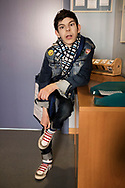 Milano, Italia - Leonardo, 18 anni, ritratto all'interno dell'Istituto Benedetta D'Intino a Milano.<br /> Ph. Roberto Salomone