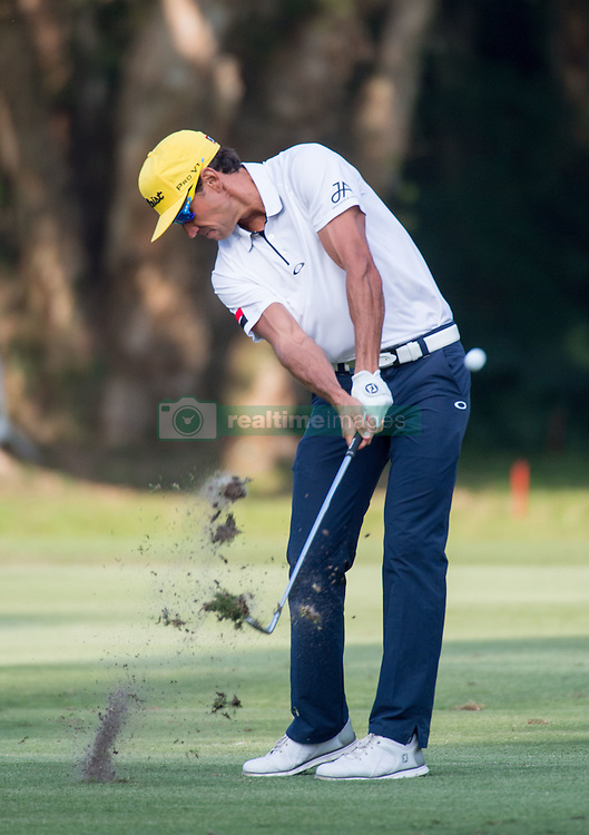 December 11, 2016 - Hong Kong, Hong Kong S.A.R, China - Final round of the 58th Hong Kong Open at The Hong Kong Golf Club Fanling, Hong Kong, Hong Kong SAR, China. Sam Brazel takes the trophy by one stroke with a birdie on the 18th. Runnerup Rafa Cabrera Bello on the fairway of the 16th. (Credit Image: © Jayne Russell via ZUMA Wire)