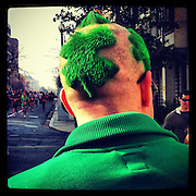 St. Patrick Day reveler in Washington, D.C. iPhone 4 with Instagram app. (Sam Lucero photo)