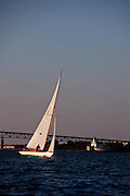 Whistler sailing in the Herreshoff S Class division of the Newport Yacht Club Tuesday night racing series.