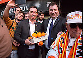 Gary Neville arrival to Valencia