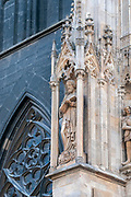 Close up details of the exterior of St. Stephan (Stephansdom) Cathedral, Vienna, Austria