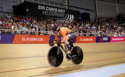Netherland's Kyra Lamberink competes in the Women's 500m Time Trial Final during day five of the 2018 European Championships at the Sir Chris Hoy Velodrome, Glasgow.