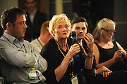 Labour Party Annual Conference<br /> Brighton<br /> 27-30 September<br /> Fringe meeting 'Securing Britain and Europe's Economic Future'<br /> organised by the Policy Network and City of London Corporation.<br /> A member of the audience puts a question to the panel.