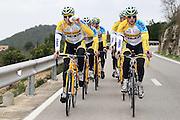 SPAIN / SPANJE / MALLORCA / CYCLING / WIELRENNEN / CYCLISME / CYCLOCROSS / VELDRIJDEN / TELENET FIDEA CYCLING TEAM / WINTERSTAGE / TRAINING CAMP / (L-R) CORNE VAN KESSEL / JENS VANDEKINDEREN /