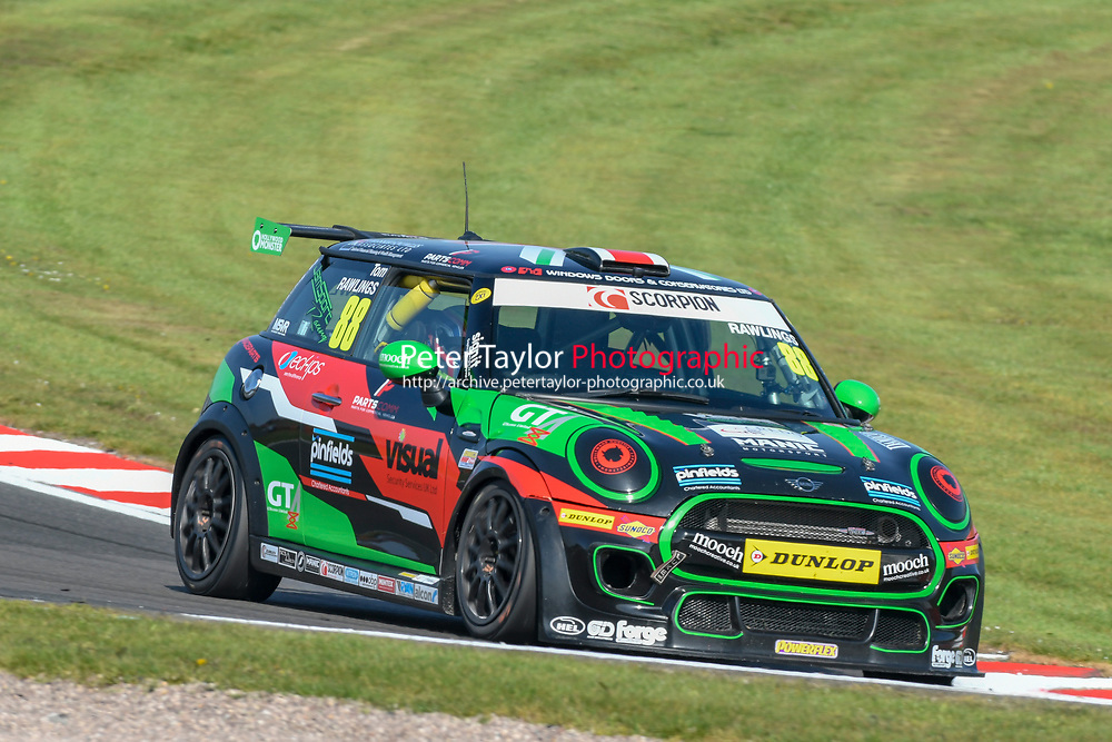 #88 Tom RAWLINGS MINI JCW during Mini Challenge - JCW Class - Rounds 1 & 2  as part of the British F3 / GT Championship meeting at Oulton Park, Little Budworth, Cheshire, United Kingdom. April 20 2019. World Copyright Peter Taylor/PSP. Copy of publication required for printed pictures.
