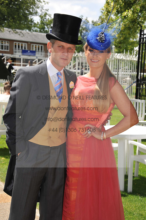 JEREMY KYLE & his wife at day 1 of the 2011 Royal Ascot Racing festival at Ascot Racecourse, Ascot, Berkshire on 14th June 2011.