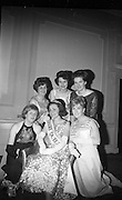 Dairy Queen of Ireland Crowned. Geraldine Coogan (centre)of Moate, Co. Westmeath, was crowned 'Dairy Queen of Ireland' at the Dairy Queen Banquet at the Shelbourne Hotel. The other finalists are Florance Cash (left front), Esther Jordan (back left), Margaret McMullen (middle back), Linda McNamee (front right) and Marie O'Malley (back right)..20.01.1966