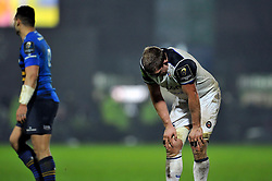 Stuart Hooper of Bath Rugby looks dejected after the final whistle - Mandatory byline: Patrick Khachfe/JMP - 07966 386802 - 16/01/2016 - RUGBY UNION - RDS Arena - Dublin, Republic of Ireland - Leinster Rugby v Bath Rugby - European Rugby Champions Cup.