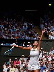 LONDON, ENGLAND - Thursday, July 12, 2018: Julia Goerges (GER) during the Ladies' Singles Semi-Final match on day ten of the Wimbledon Lawn Tennis Championships at the All England Lawn Tennis and Croquet Club. (Pic by Kirsten Holst/Propaganda)