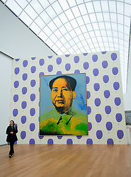 Painting of Chairman Mao by Andy Warhol at Hamburger Bahnhof Museum of Contemporary Art in Berlin Germany