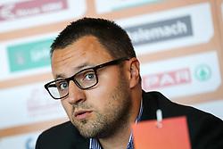 Konstantin Subotic, head coach of KK Portoroz, at press conference before new season of KZS Nova KBM League 2016/17, on October 05, 2016, in Radisson Blu Plaza Hotel, Ljubljana. Photo by Matic Klansek Velej / Sportida.