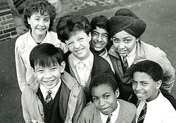 Group of secondary school pupils UK 1998