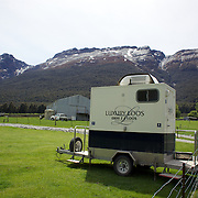 A loo for a Hobbit...A portable toilet close to the film set as final preparations take place on set before the shooting of  Executive producer, writer and director Sir Peter Jackson's sequel 'The Hobbit: An Unexpected Journey' in a remote valley in Paradise, near Glenorchy, 66km from Queenstown. South Island, New Zealand. 16th November, 2011
