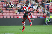 Olufela Olomola of Southampton U23's  shoots at goal during the Under 23 Premier League 2 match between Southampton and Manchester United at St Mary's Stadium, Southampton, England on 22 August 2016. Photo by Phil Duncan.