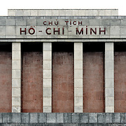 The top of the Ho Chi Minh Mausoleum. A large memorial in downtown Hanoi surrounded by Ba Dinh Square, the Ho Chi Minh Mausoleum houses the embalmed body of former Vietnamese leader and founding president Ho Chi Minh.