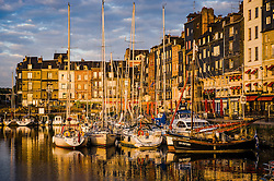 Early morning at the harbour in Honfleur, Normandy, France
