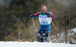 March 17, 2018 - Pyeongchang, South Korea - Andrew Soule of the US during the 7.5km Cross Country event Saturday, March 17, 2018 at the Alpensia Biathlon Center at the Pyeongchang Winter Paralympic Games. Photo by Mark Reis (Credit Image: © Mark Reis via ZUMA Wire)