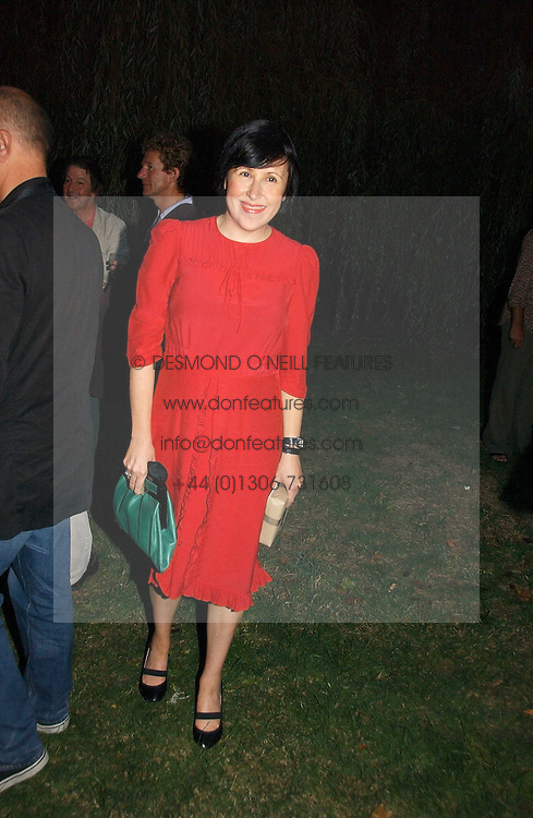 ALICE RAWSTHORN at a party to celebrate the publication of Notting Hell by Rachel Johnson held in the gardens of 1 Rosmead Road, London W11 on 4th September 2006.<br />