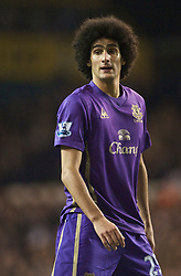LONDON, ENGLAND - Tuesday, October 27, 2009: Everton's Marouane Fellaini in action against Tottenham Hotspur during the League Cup 4th Round match at White Hart Lane. (Photo by David Rawcliffe/Propaganda)
