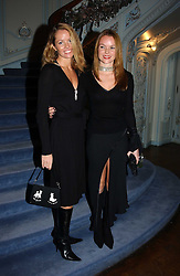 Right, Actress AMANDA HOLDEN with her sister DEBBIE at jewellers Tiffany's Christmas party held at The Savile Club, 69 Brook Street, London on 14th December 2004.<br />