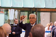 Paolo Baratta, President of the Biennale, before the ceremony when the lions are given to the best artists/pavillions.