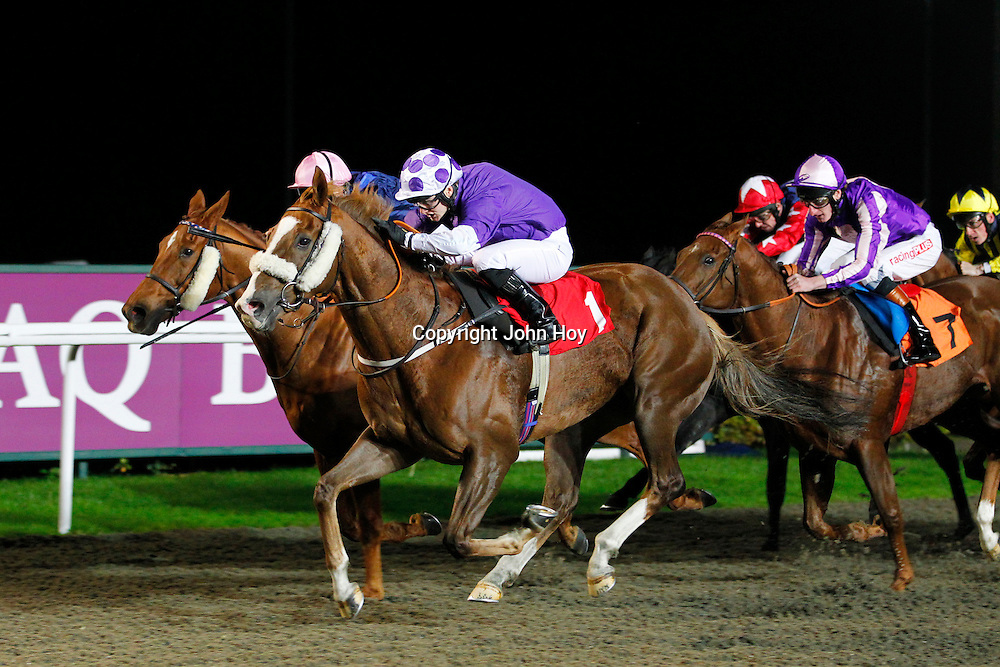 Chookie Royal and Jason Hart winning the 8.50 race