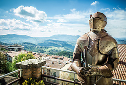 Knight in City of San Marino, on October 12, 2015 in Republic of San Marino. Photo by Vid Ponikvar / Sportida