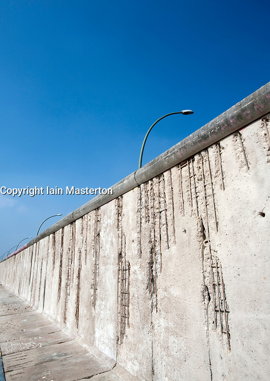 One of the few remaining sections of the Berlin Wall at the East Side Gallery in Berlin 2009