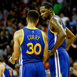Dec 13, 2016; New Orleans, LA, USA;  Golden State Warriors guard Stephen Curry (30) and forward Kevin Durant (35) against the New Orleans Pelicans during the second half of a game at the Smoothie King Center. The Warriors defeated the Pelicans 113-109. Mandatory Credit: Derick E. Hingle-USA TODAY Sports