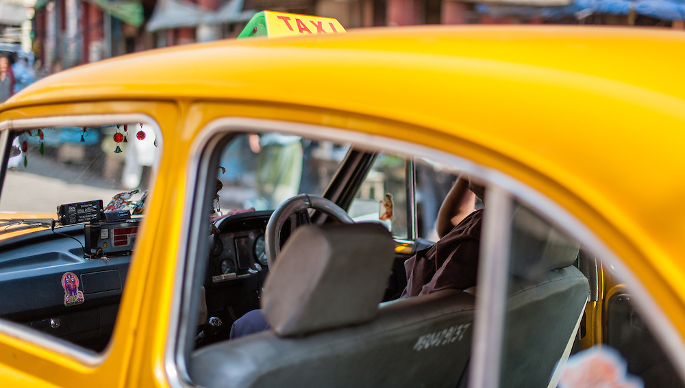 Yello cab in Kolkata (India)