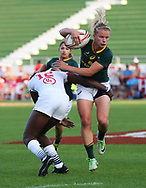DUBAI, UNITED ARAB EMIRATES - Thursdays 30 November 2017, Nadine Roos of South Africa during HSBC Emirates Airline Dubai Rugby Sevens match between South Africa and the USA at The Sevens Stadium in Dubai.<br /> Photo by Roger Sedres/ImageSA