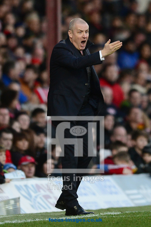 Picture by Alex Broadway/Focus Images Ltd +44 7905 628183<br /> 11/01/2014<br /> Mark Warburton, manager of Brentford during the Sky Bet League 1 match at Griffin Park, London.