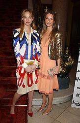 Left to right, CLEMENTINE HAMBRO and AMANDA CROSSLEY at a fashion show featuring the Miss Selfridge Autumn/Winter '05 collections held at The Wallace Collection, Manchester Square, London W1 on 6th April 2005.<br />