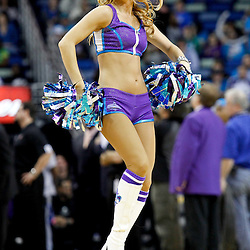 January 16, 2012; New Orleans, LA, USA; A New Orleans Hornets honeybees dancer performs during the fourth quarter of a game against the Portland Trail Blazers at the New Orleans Arena. The Trail Blazers defeated the Hornets 84-77.  Mandatory Credit: Derick E. Hingle-US PRESSWIRE