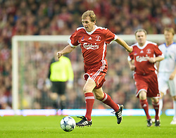LIVERPOOL, ENGLAND - Thursday, May 14, 2009: Liverpool Legends' player/manager Kenny Dalglish in action against All Star during the Hillsborough Memorial Charity Game at Anfield. (Photo by David Rawcliffe/Propaganda)