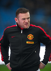 MANCHESTER, ENGLAND - Sunday, January 8, 2012: Manchester United's Wayne Rooney before the FA Cup 3rd Round match against Manchester City at the City of Manchester Stadium. (Pic by David Rawcliffe/Propaganda)