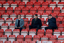 WREXHAM, WALES - Monday, May 2, 2016: S4C's Dylan Ebenezer with Owen Tudor Jones and Osian Roberts during the 129th Welsh Cup Final at the Racecourse Ground. (Pic by David Rawcliffe/Propaganda)