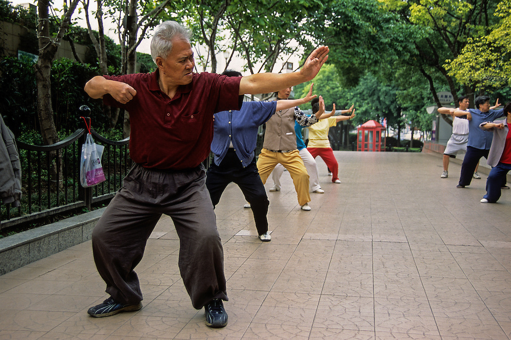 Tai chi is still extremely popular with the older generations in China and you can always find a group practicing in the early morning.