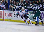 KELOWNA, CANADA - SEPTEMBER 29:  ReMax Rinkboard at the Kelowna Rockets game on September 29, 2017 at Prospera Place in Kelowna, British Columbia, Canada.  (Photo By Cindy Rogers/Nyasa Photography,  *** Local Caption ***