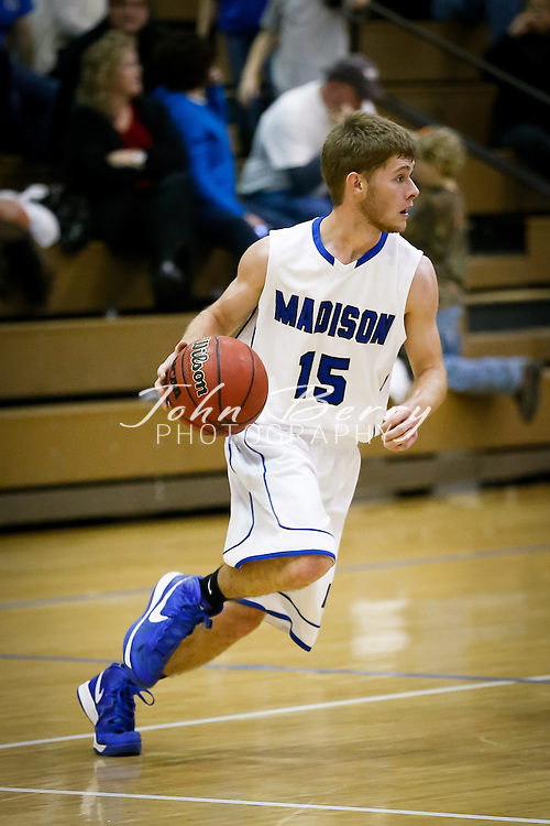 December/20/12:  MCHS Varsity Boys Basketball vs Rappahannock.  Madison wins 81-36.