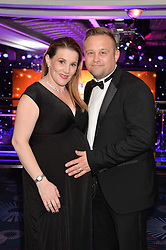 SAM BAILEY and her husband at the Caudwell Children's annual Butterfly Ball held at The Grosvenor House Hotel, Park Lane, London on 15th May 2014.