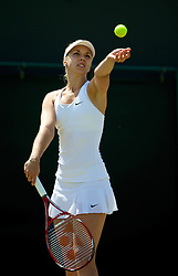 LONDON, ENGLAND - Tuesday, July 1, 2014: Sabine Lisicki (GER) during the Ladies' Singles 4th Round match on day eight of the Wimbledon Lawn Tennis Championships at the All England Lawn Tennis and Croquet Club. (Pic by David Rawcliffe/Propaganda)