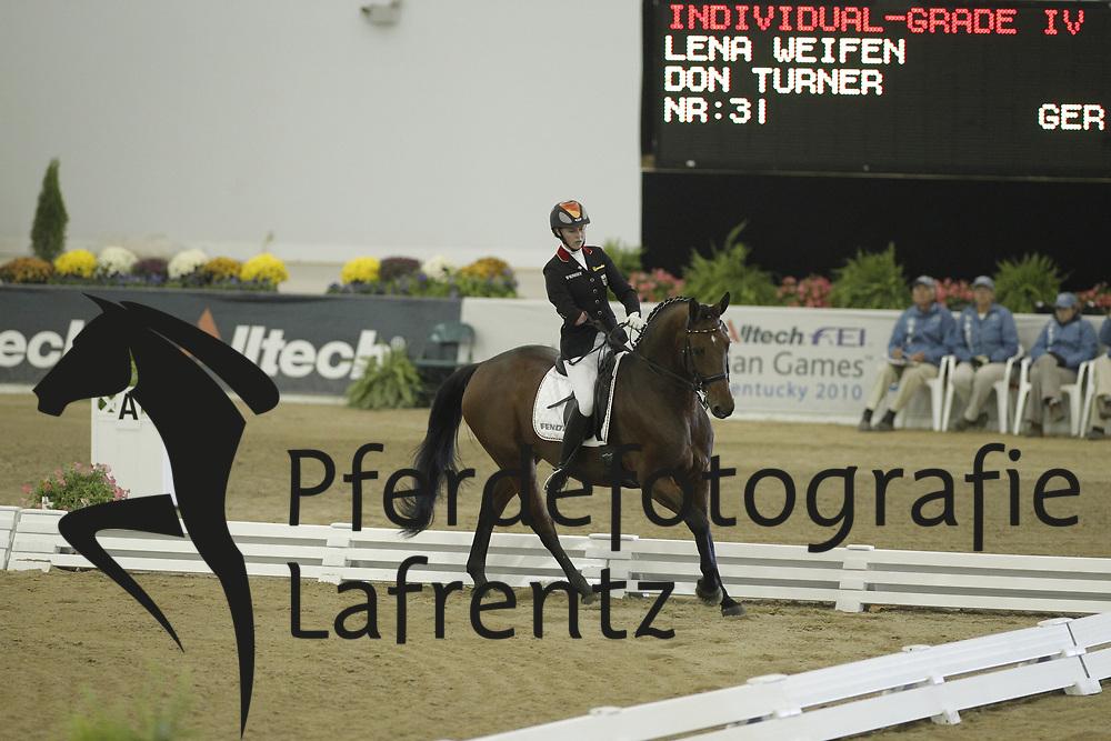 WEIFEN Lena, Don Turner<br /> Kentucky - Alltech FEI WEG 2010<br /> /Stefan Lafrentz