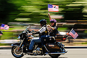 """Hundreds of thousands of motorcycle riders participate in Rolling Thunder's annual Memorial Day weekend """"Ride To The Wall"""", converging on the Vietnam Veterans Memorial in Washington, DC, USA on 26 May, 2013. Rolling Thunder Inc. is a non-profit organization dedicated to the search of American soldiers who are prisoners of war or missing in action. Rolling Thunder was established in 1987."""