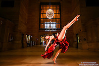 Grand Central Terminal: Dance As Art the New York City Photography Project with dancer Joceyln Farabaugh