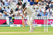 Ravichandran Ashwin of India batting during second day of the Specsavers International Test Match 2018 match between England and India at Edgbaston, Birmingham, United Kingdom on 2 August 2018. Picture by Graham Hunt.
